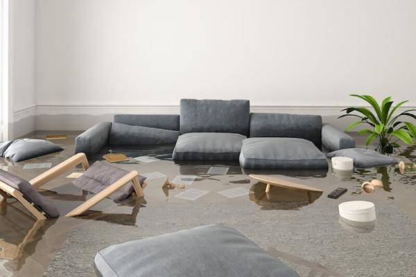 flood waters inside home